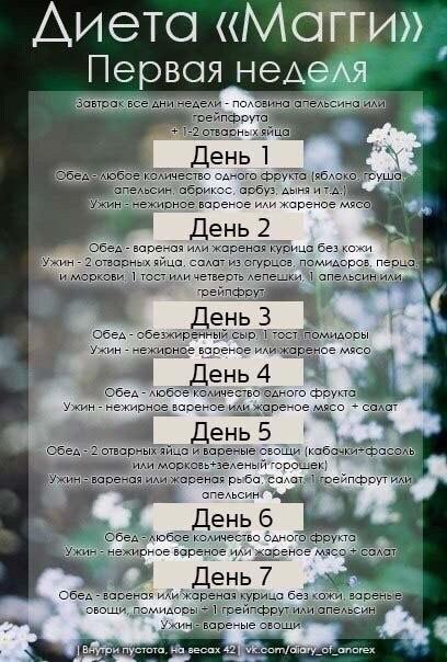 4 Недельная Диета Магги